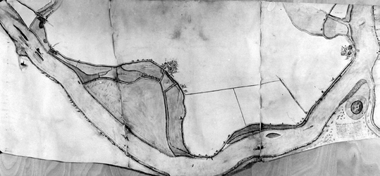 1967-639 Kaart van IJsselmonde tot Ridderkerk [foto]