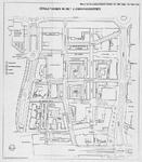 1968-1021 Plattegrond van het Lijnbaankwartier, met daarop aangegeven nieuwe gebieden met de straatnamen Boomgaardshof, ...