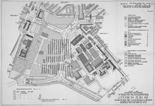 1968-1193 Plattegrond van het uitbreidingsplan Centrum-Zuid. Het afgebeelde gebied bevat het Zuidplein en het Brabantse ...