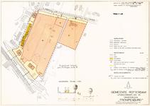 1968-1204 Plattegrond van uitbreidingsplan Trompenburg, met vermelding van de diverse bestemmingen