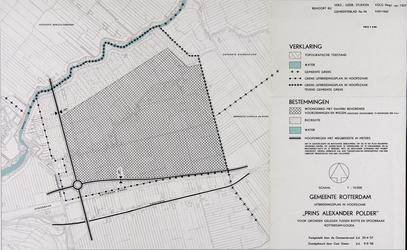 1968-1255 Kaart van bouwpercelen in Ommoord, gelegen tussen de Rotte en de spoorbaan Rotterdam-Gouda
