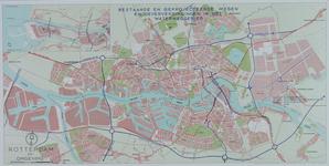1968-1384-1 Plattegrond van Rotterdam en omgeving met daarop aangetekend de bestaande en geprojecteerde wegen en ...