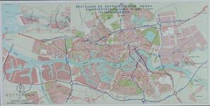 1968-1384-2 Plattegrond van Rotterdam en omgeving met daarop aangetekend de jaartallen, bestaande en geprojecteerde ...