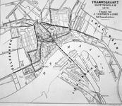 1968-444 Kaart van het tramwegennet te Rotterdam