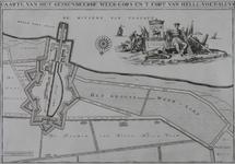 1969-1256 Kaart van Hellevoetsluis en het geïnundeerde Weergors [facsimile]