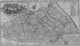 1969-1263 Kaart van de stad en de heerlijkheid Heenvliet