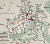 1969-1790 Kaart van het tramlijnennet van de RETM