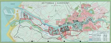 1969-1796 Kaart van Rotterdam met het Europoortgebied met indeling van de wegennetzones ten behoeve van de ...
