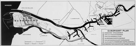1969-1800 Plankaart voor het Europoortgebied en de Maasvlakte