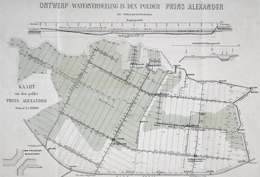 1969-2589 Plankaart voor de waterverdeling in de Prins Alexanderpolder