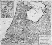 1969-316 Kaart van Holland. Inzetkaartje: Texel, Wieringen en Vlieland