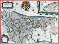 1969-636 Kaart van Holland (en een deel van Utrecht). Inzet: Texel, Vlieland en Terschelling