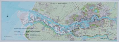 1969-788 Kaart van Rotterdam en omgeving waarop de uitvoering van het hoofdwegennet en de waterkeringen per 1 januari ...