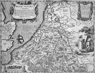 1970-1575 Historiekaart van Nederland voor de komst van de Romeinen