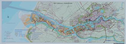 1970-2029 Kaart van Rotterdam en omgeving waarop de uitvoering van de wegenruit en de waterkering per 1 januari 1970 is ...