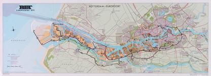 1970-905 Kaart van Rotterdam en omgeving met de route van de RET Europoortrit 1970
