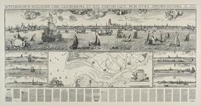 1972-2112 Kaart van de Maas van Rotterdam tot in zee en de aanliggende plaatsen, Schiedam, Vlaardingen, Maassluis en ...