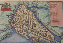 1973-117 Historiekaart van Rotterdam anno 1488.