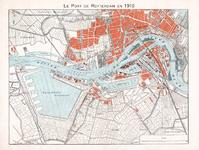1973-123 Kaart van de havens te Rotterdam, [de Waalhaven in ontwikkeling]