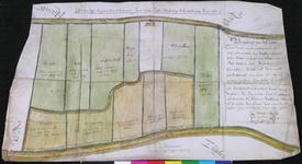1973-1793 Kaart van landerijen van de oostambachten van Delfland tussen de Groeneweg en het Vingerling en tussen het ...