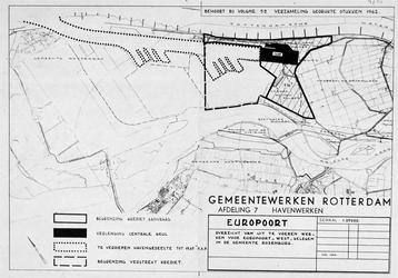 1973-4783 Kaart met een overzicht van uit te voeren werken voor het plan Europoort-West in de gemeente Rozenburg