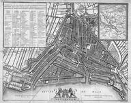 1973-5376 Plattegrond van Rotterdam. Inzet: kaart van Midden-Nederland