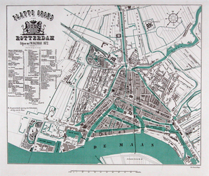 1973-5382 Plattegrond van Rotterdam.