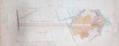1973-5394 Kaart voor de onteigeningen van grondpercelen ten behoeve van de aanleg van een spoorlijn naar Rotterdam. Het ...
