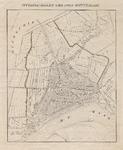 1973-5401 Kaart met een plattegrond van Rotterdam en de watergangen aan weerszijden van de stad.