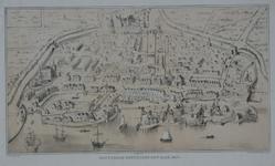 1973-5403 Reconstructie plattegrond van Rotterdam.