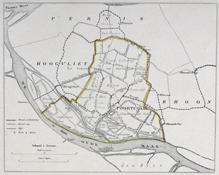 1973-5423 Kaart van de gemeente Poortugaal