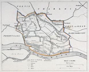 1973-5424 Kaart van de gemeente Rhoon