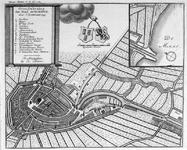 1973-5436 Plattegrond van Schiedam. Inzetkaartje: de monding van de haven in de Nieuwe Maas