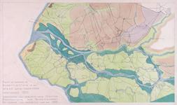 1973-5457 Kaart van de bodemtoestand van het Rijnmondgebied anno 1500 + legenda