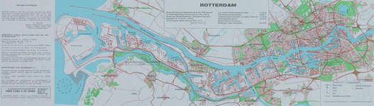1975-1657-2 Kaart van Rotterdam met informatie voor zeelieden en binnenvaartschippers. Inzetkaart: centrum van ...