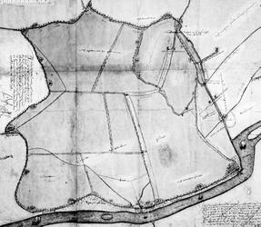 1976-1659 Kaart van de polders Nieuwe Reijerwaard, Klein Nieuwland, en Zomerland en de dorpen Ridderkerk en IJsselmonde ...