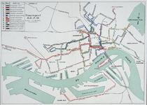1976-1907 Kaart met het tramwegnet van de RETM.