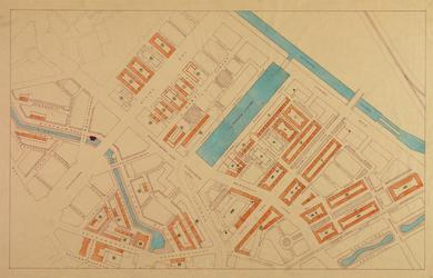 1978-1554 Stratenplan van Blijdorp en de Bergpolder, met aanduiding van de bebouwing en het voormalige tracé van de ...
