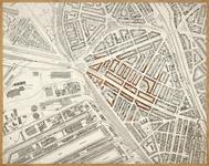 1978-1561 Plattegrond van Bospolder-Tussendijken met aanduiding van de getroffen p[anden tijdens het bombardement van ...