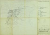 1978-1568 Kaart van het uitbreidingsplan Oud-Mathenesse IV. Het afgebeelde gebied wordt begrensd door de Hogenbanweg, ...