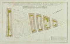 1978-1579 Plattegrond van percelen tussen de Bergweg, Benthuizerstraat, 3e Pijnckerstraat en Zwartjanstraat met ...