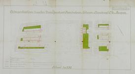 1978-1582 Plattegrond van percelen tussen de Zwart-Janstraat, Noordmolenstraat, Tollensstraat, Noordsingel o.z. en de ...