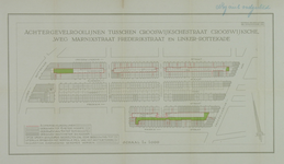 1978-1583 Plattegrond van een deel van Oud-Crooswijk: Crooswijkschestraat, Rubroekstraat en Frederikstraat, ...