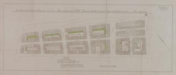1978-1584 Plattegrond van een gedeelte van de Agniesebuurt, gelegen tussen de Bergweg en de Zomerhofstraat met ...