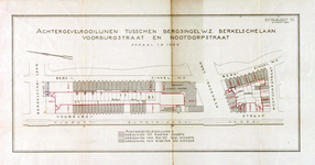 1978-1586 Kaart van percelen tussen de Bergsingel westzijde en Voorburgstraat en Nootdorpstraat