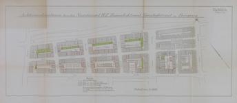 1978-1587 Plattegrond van een gedeelte van de Agniesebuurt, gelegen tussen de Bergweg en de Zomerhofstraat met ...