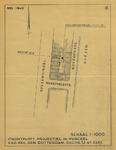 1978-1607-6 Plattegrond van percelen aan de Boezemsingel, Marktveldstraat en Boezemkade met daarop aangegeven de ...