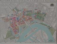 1978-3888 Plankaart met bestemmingen voor de herbouw van de binnenstad van Rotterdam