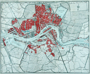 1979-129 Plattegrond van Rotterdam.