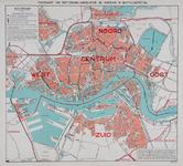 1979-175 Postkaart van Rotterdam met de besteldistricten van de PTT